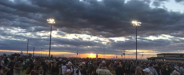 Sunrise Over the Start Line - Bataan Memorial Death March 2018