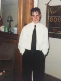 Me...in high school - Don't judge too much.