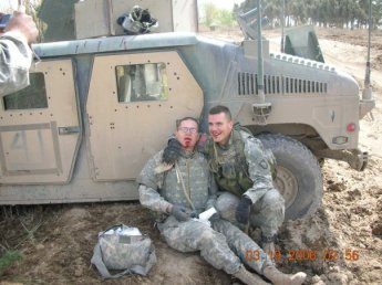 I am on the right - smiling - taken immediately after a non-enemy accident