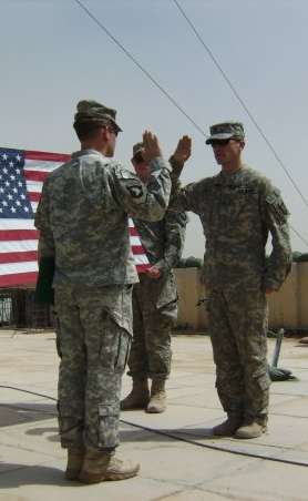 My final reenlistment in 2008 - I would be out of the Army less than a year later.